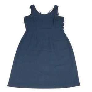 CDC Womens Size 4 Navy Sleeveless Dress